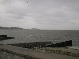 吉田港からみた風景