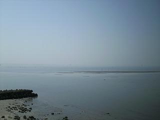 堤防から見た海3