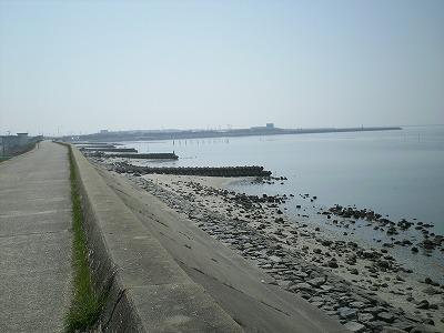 堤防から見た海1