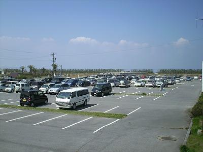 潮干狩り場 駐車場